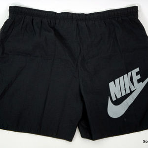Vintage Nike Spellout Swoosh Lined Swim Trunks L